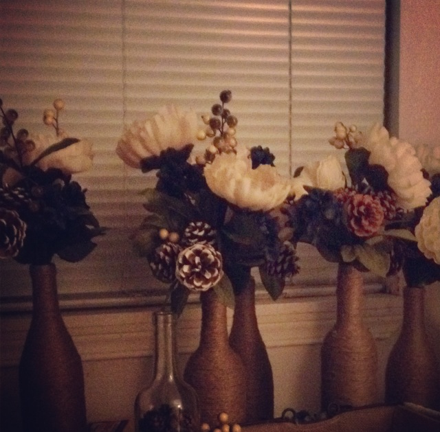 """Finished"" centerpieces!"
