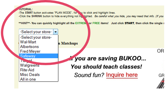 Once you're in your state, select the store you want and follow the tutorial instructions at the top of the page.